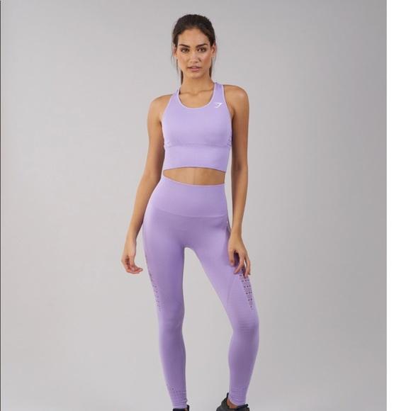 ee859996e327b Gymshark Tops - Gymshark energy seamless crop vest in lavender